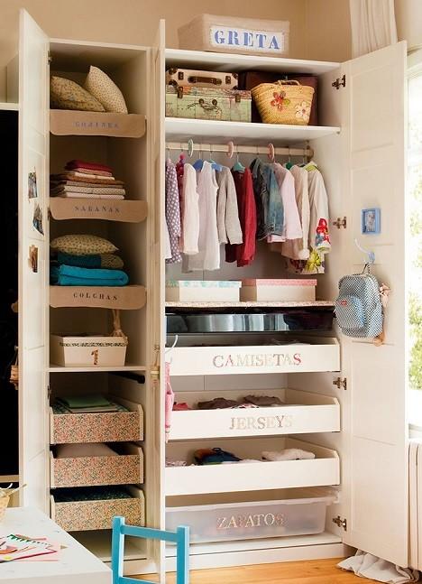 etiquetas para organizar ropa armario niños