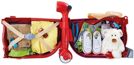 interior maleta infantil forma moto