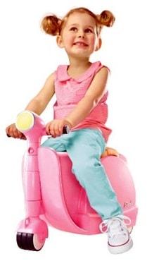 maleta de  viaje con forma de moto