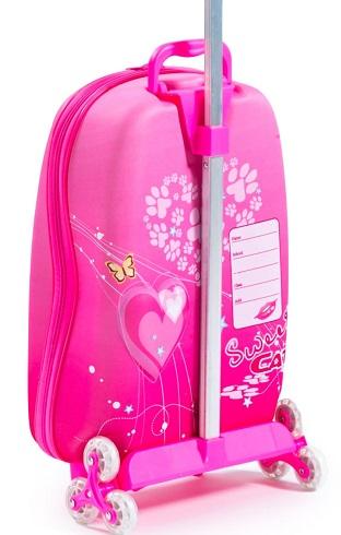 maleta para viajar de niña con tres ruedas