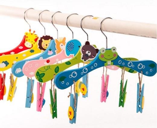 perchas infantiles para armario de niño