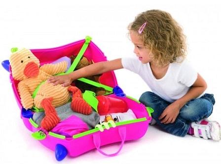 que llevar en maleta de viaje niño