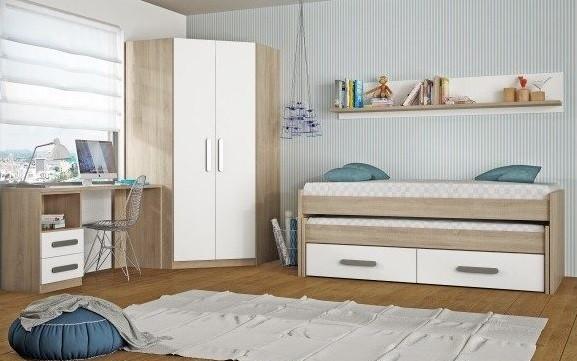 ropero esquinero para dormitorio infantil
