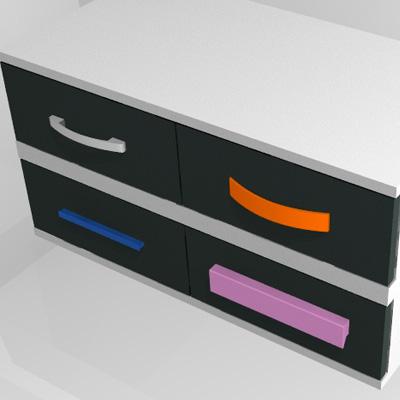 tiradores de colores para armarios