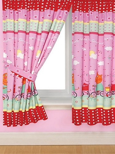abrazadera cortina peppa pig