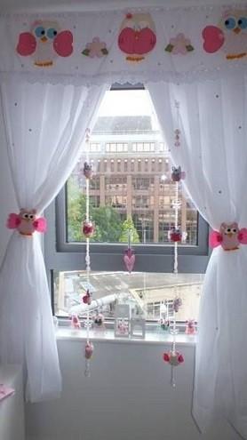 adornos cortinas infantiles