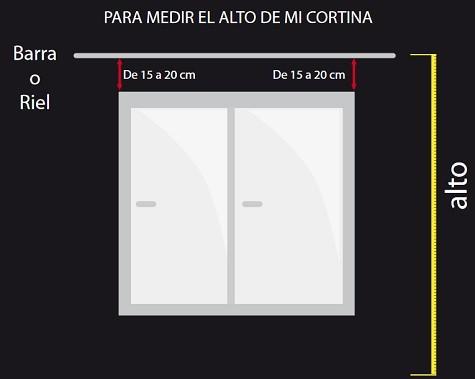 altura instalar cortina