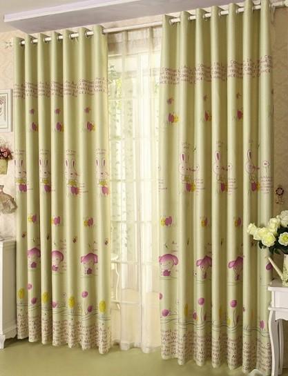 cortina con ojales para dormitorio infantil