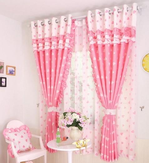 cortina doble capa habitacion niña