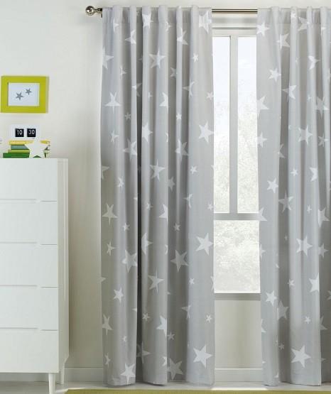 cortinas con estrellas para cuarto niños