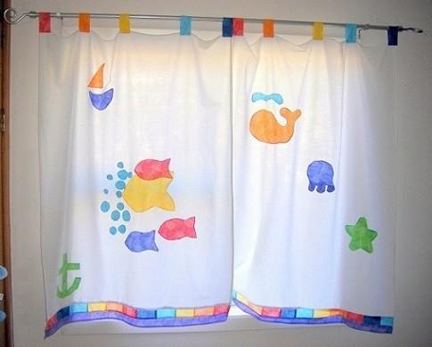 cortinas con trabillas para cuarto niños