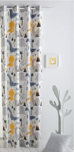 cortinas infantiles con dinosaurios