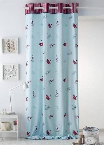 cortinas para cuarto de niño estilo arrastre o caida