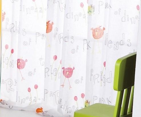 cortina traslucida transparente estilo infantil