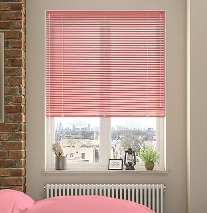 cortinas venecianas rosa para dormitorio niña