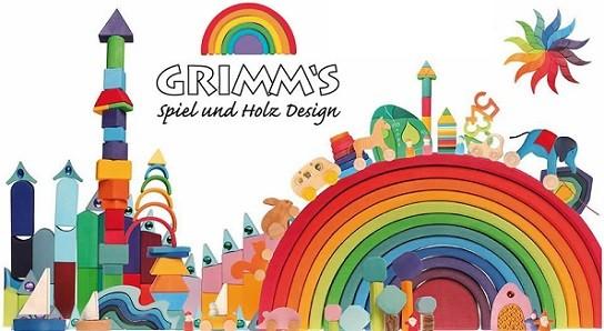 juguetes de madera marca Grimms