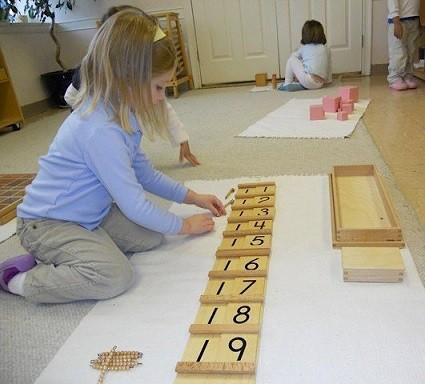 matematicas con metodo montessori