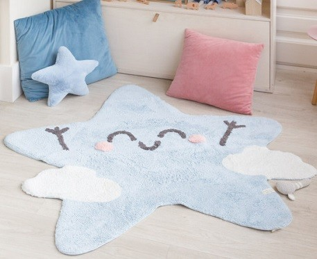 alfombra con forma de estrella