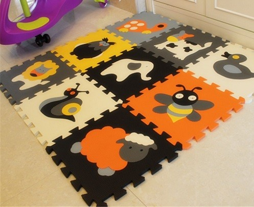 alfombra de puzzle con animales
