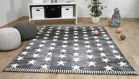 alfombra grande con estrellas 200 x 200 cm