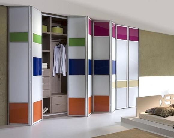 puertas armario incrustado en pared