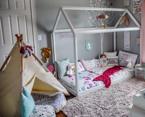 diferencia entre cama Montessori y casita Tipi