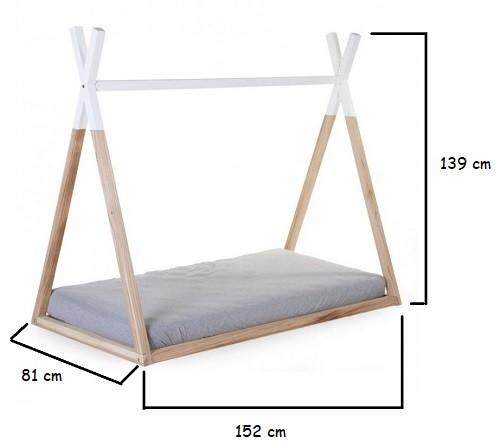 medidas cama tipi cabaña