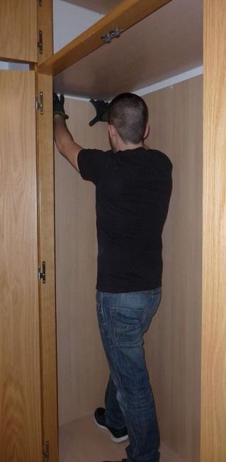 cerco armario ropero empotrado en pared