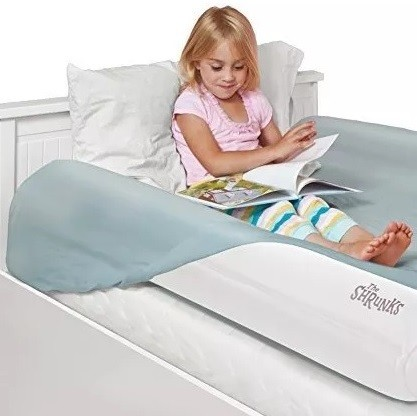 barrera hinchable de aire para cama niños