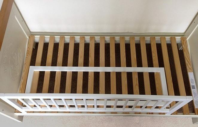 montaje barrera cama infantil