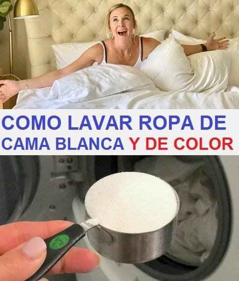 como lavar ropa de cama blanca y color