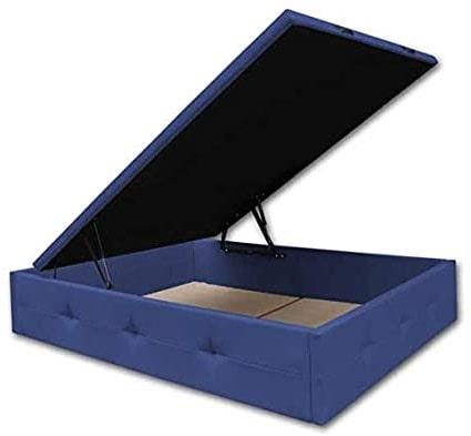 somier canape polipiel azul