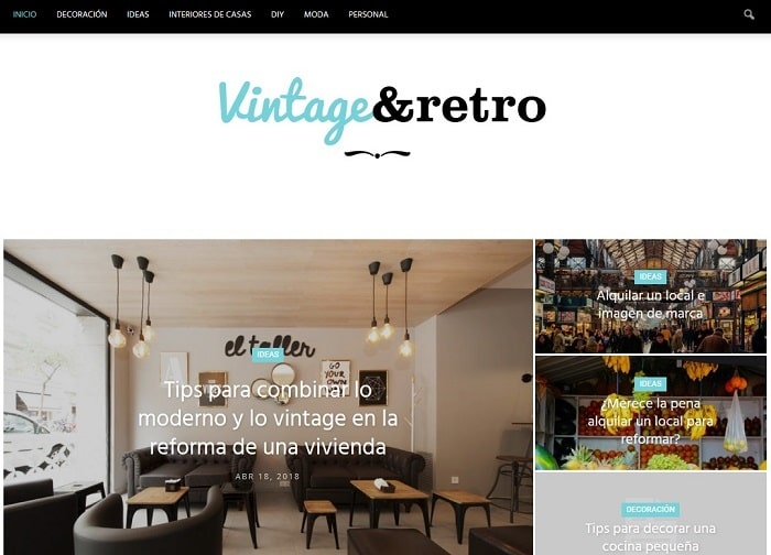 ideas de interiorismo vintage y retro
