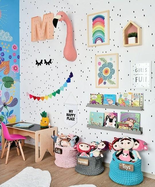 como decorar una pared infantil