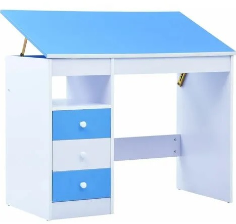 escritorio con mesa inclinable