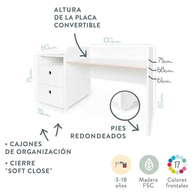 escritorio infantil colorfex by ak