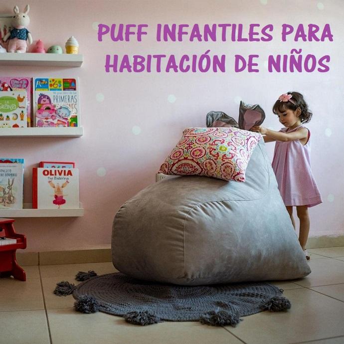 puff infantiles habitaciones de ninos