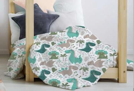 ropa de cama infantil con dibujo de dinosaurios