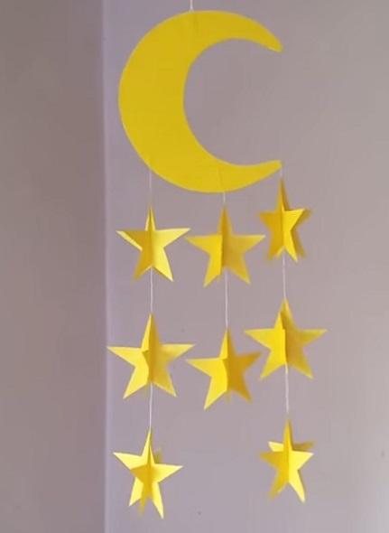 guirnalda de papel decorativa para habitacion de niños